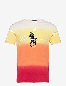 Custom Slim Fit Dip-Dyed Graphic T-Shirt - kortärmade t-shirts - classic peach dip