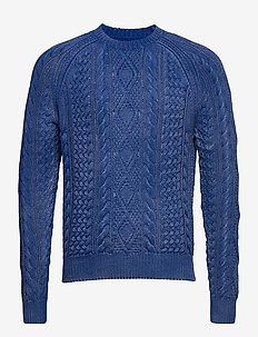 The Iconic Fisherman's Sweater - basic strik - blue gmd