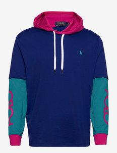 Classic Fit Logo Hooded T-Shirt - bluzy z kapturem - active royal