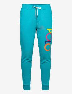 Logo Double-Knit Jogger Pant - spodnie dresowe - deep aqua