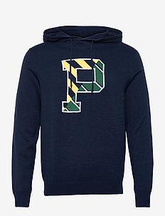 Letterman Hooded Sweater - hoodies - cruise navy