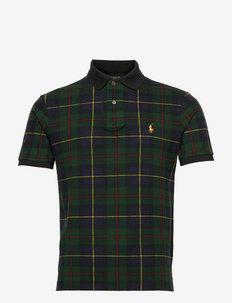 Custom Slim Fit Tartan Mesh Polo Shirt - krótki rękaw - the polo tartan