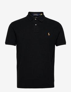 Custom Slim Fit Mesh Polo Shirt - krótki rękaw - polo black