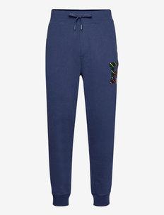 Fleece Letterman Jogger Pant - pantalon de sport - french navy
