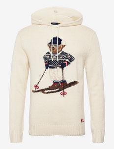 Ski Polo Bear Hooded Sweater - hoodies - cream