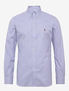 Slim Fit Striped Oxford Shirt - 3155b blue/white