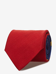 Sportsmen Wool Narrow Tie - NAVY/RED