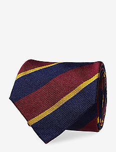 Silk Narrow Tie - WINE/NAVY