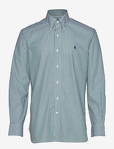 HB BD PPC NK-DRESS SHIRT - 3213F GREEN/WHITE