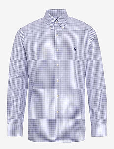 Custom Fit Tattersall Shirt - 3138A COBALT BLUE
