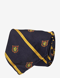 Lion Silk Tie - NAVY/GOLD