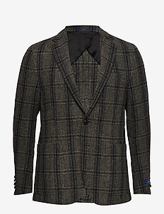 SML WINDWPNE PLAID-MRGN YALE UC EP - DK CHARCOAL AND B