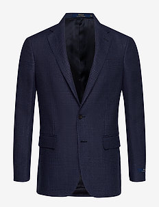 Polo Glen Plaid Sport Coat - NAVY AND BLACK