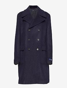 Wool-Blend Car Coat - NAVY