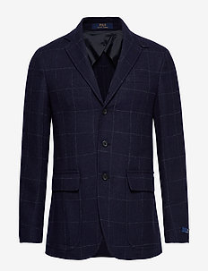 Polo Soft Checked Sport Coat - DK NAVY W/BLUE