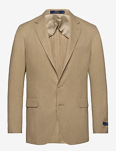 Polo Tick-Weave Sport Coat - CAMEL/CREAM