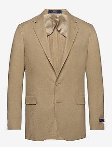Polo Tick-Weave Sport Coat - camel/cream
