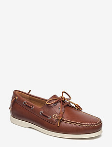 Merton Leather Boat Shoe - boat shoes - deep saddle tan