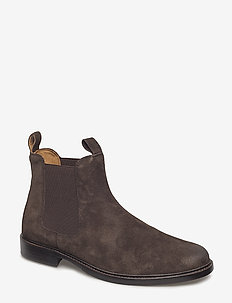 Normanton Leather Boot - DARK BROWN