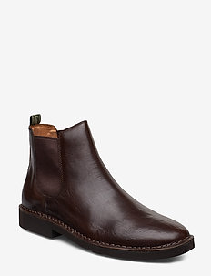 Talan Leather Chelsea Boot - POLO BROWN