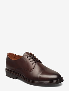 Asher Leather Cap Toe Shoe - snörskor - polo brown