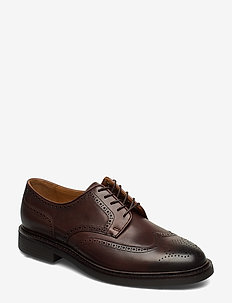 Asher Leather Wingtip - POLO BROWN