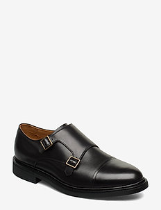 Asher Monk-Strap Shoe - BLACK