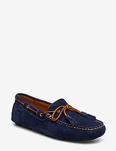 Anders Tasseled Suede Driver - NAVY