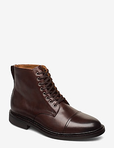 CALF LEATHER-ASHER BOOT-BO-CSL - POLO BROWN