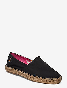Cotton Canvas Espadrille - BLACK