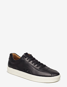 Court 100 Leather Sneaker - BLACK