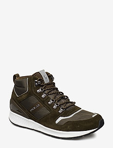 Train 100 Suede-Mesh Sneaker - DEEP OLIVE/OLIVE