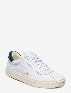 Court 100 Leather Sneaker - WHITE/NEW FOREST