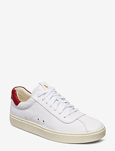 Court 100 Leather Sneaker - WHITE/RL 2000 RED