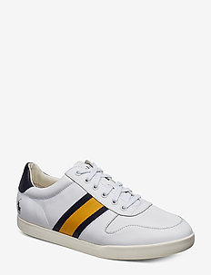 Camilo Leather Sneaker - WHITE/NEWPORT NAV