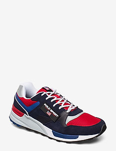 Trackster 100 Leather Sneaker - NAVY/RL2000 RED/S