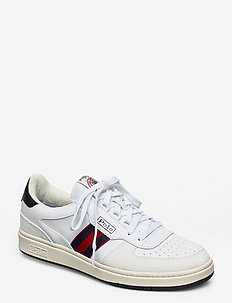 Court Leather Sneaker - white/newport nvy