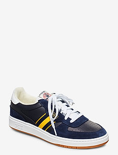 Court Leather Sneaker - NEWPORT NAVY/GOLD