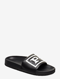 Cayson Polo Slide Sandal - pool sliders - black/white