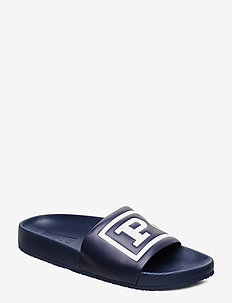 Cayson Polo Slide Sandal - newport navy/whit