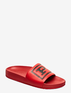 Cayson Polo Slide Sandal - pool sliders - red/black