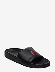 Cayson Pony Slide Sandal - BLACK/RED PP