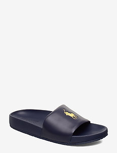 Cayson Pony Slide Sandal - pool sliders - newport navy/gold