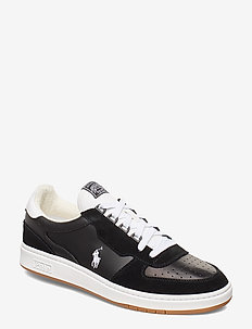 Court Leather Sneaker - låga sneakers - black/white pp