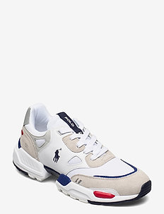 LEATHER/SUEDE/MESH-POLO JGR PP-SK-A - low tops - white/gray violet