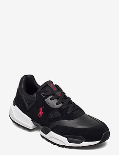 PERF LEATHER/MESH-POLO JGR PP-SK-AT - low tops - black
