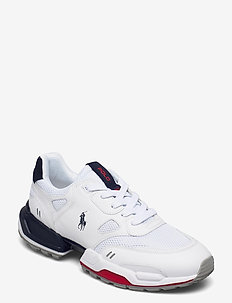Jogger Leather & Mesh Sneaker - low tops - white/newport nav