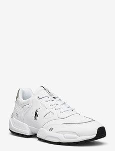 Jogger Leather-Paneled Sneaker - baskets basses - white/black pp