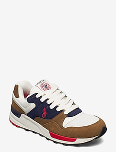 Trackster 100 Suede Sneaker - low tops - tan/navy/red