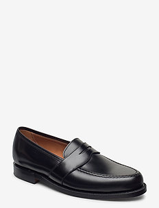 Braygan Calfskin Penny Loafer - loafers - black